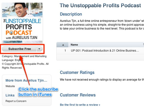 Unstoppable Profits Podcast iTunes