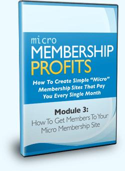 Micro Membership Profits Module 3