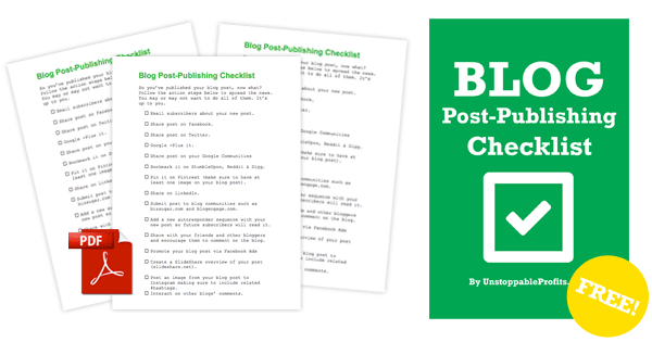 Blog Post-Publishing Checklist