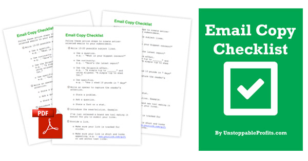 Email Copy Checklist