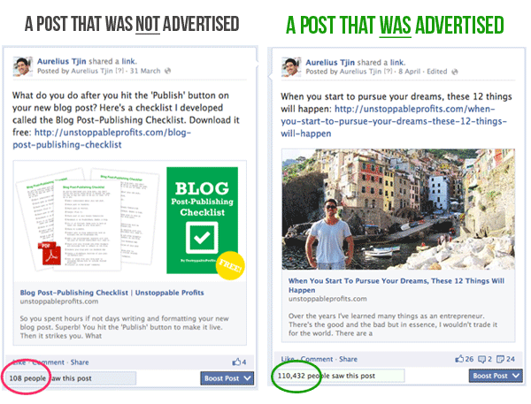 Before & After Using Facebook Ads