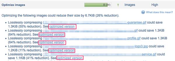 optimize images gtmetrix