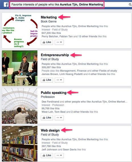 facebook ads favorite interest