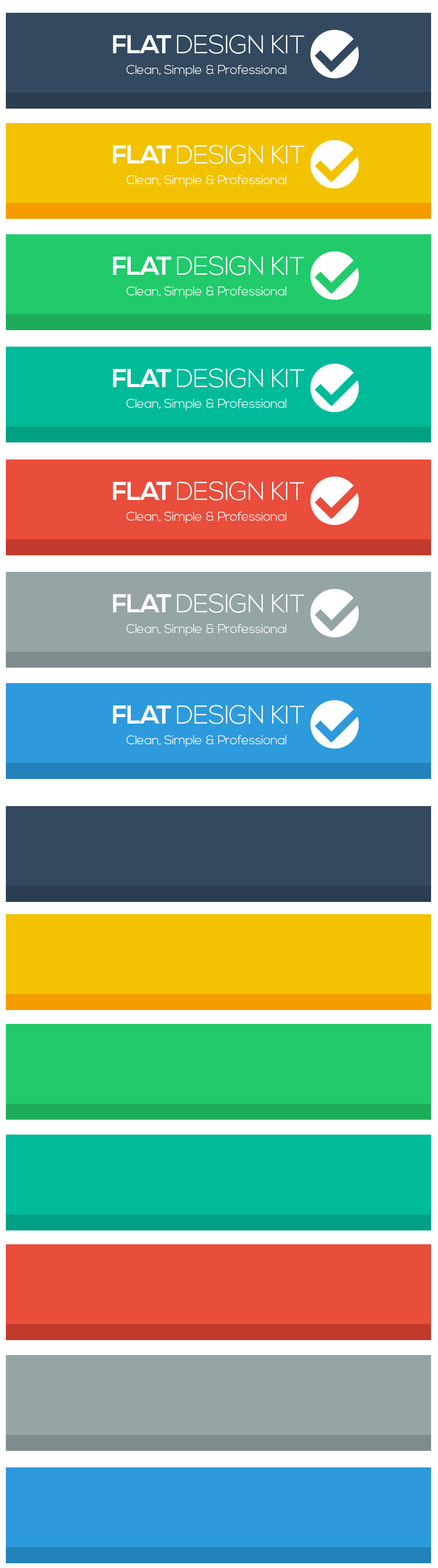 flat design headers